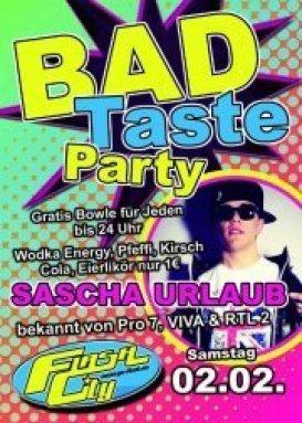 Mottoparty Einladung U2013 Ledeclairage, Einladungs · Party   Bad Taste Party  Mit Sascha Urlaub   Flash In Halle An Der, Einladungs