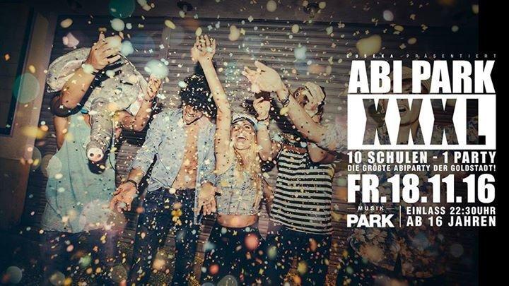 party abi park xxxl 10 schulen 1 party ab 16 jahren musikpark pforzheim. Black Bedroom Furniture Sets. Home Design Ideas