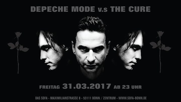 festa depeche mode v s the cure party das sofa in bonn. Black Bedroom Furniture Sets. Home Design Ideas