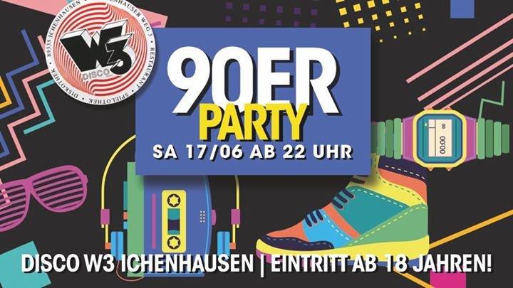 festa 90er party juni 2017 ab 18 jahren discothek w3 in ichenhausen. Black Bedroom Furniture Sets. Home Design Ideas