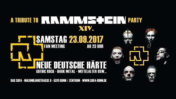 party rammstein party xiv das sofa in bonn. Black Bedroom Furniture Sets. Home Design Ideas