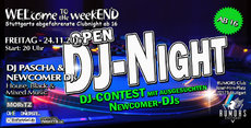 WELcome to the weekEND - OPEN DJ-NIGHT (Stuttgarts coolste Party ab 16 Jahren)