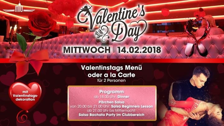 Party   Valentinstag  Candle Light Dinner And Free Salsa Beginner Lesson    Mio In Berlin   14.02.2018