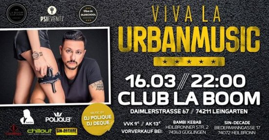 Viva La Urbanmusic - Grand Opening with Dj Polique