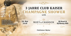 Champagne Shower / 3 Years Club Kaiser Skybar